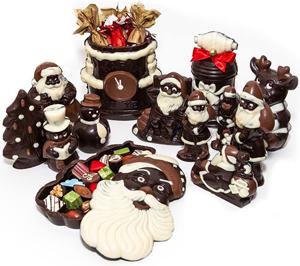 Шоколадные открытки к новому году