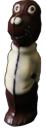 Такса в свитере - шоколадная фигура ручной работы