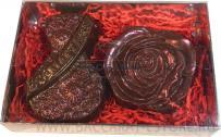 8 + цветок - набор шоколадных фигур к 8 марта из бельгийского шоколада ручной работы