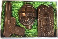 Набор шоколадных фигур к 23 февраля