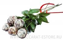 Розы из бельгийского шоколада ручной работы