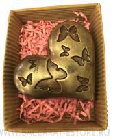 Cердце с бабочками из шоколада