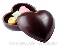 Шкатулка сердце с конфетами из шоколада ручной работы Baccarat