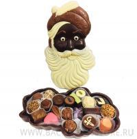 Шкатулка Дед Мороз с конфетами - бельгийский шоколад ручной работы