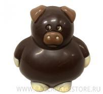 Свинка пухлая - шоколадная фигура ручной работы