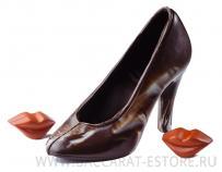 Туфелька на шпильке малая из шоколада ручной работы