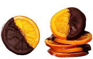 Апельсиновые дольки с шоколадом