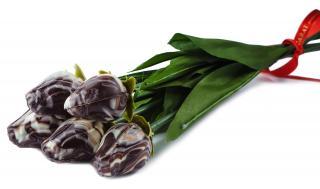 Тюльпаны из шоколада ручной работы