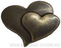 Барельеф сердце в сердце