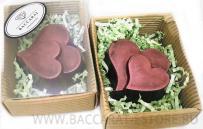 Шоколадный барельеф сердце в сердце