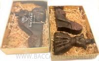 Платье и туфля - набор шоколадных фигур к 8 марта из бельгийского шоколада ручной работы