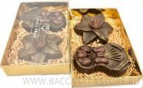 Подарочный набор из шоколадных барельефов к 8 марта