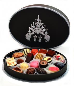 Подарочный набор шоколадных конфет ручной работы GEMS OVAL